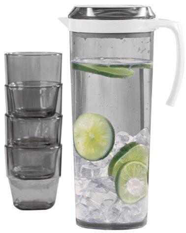 Pitcher Set 1,5 liter med 4x glas