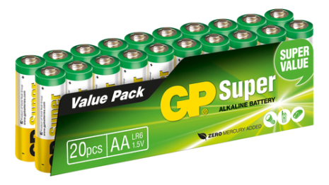 Batteri GP Super Alkaline AA 20 pack