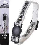Katthalsband Black & White 30cm