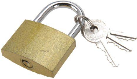 Hänglås 40mm med 3 st nycklar