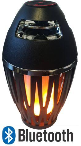 LED Flammande lampa m högtalare