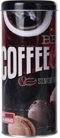 Kaffe burk rund 18 x 7,5 cm Bland. mönster